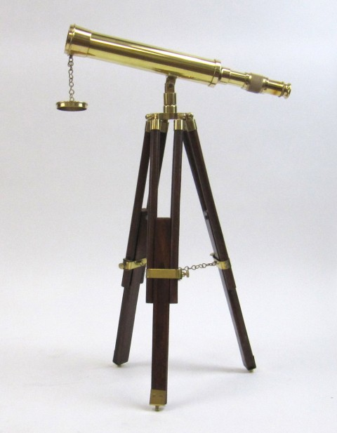 Solid Brass Table Telescope