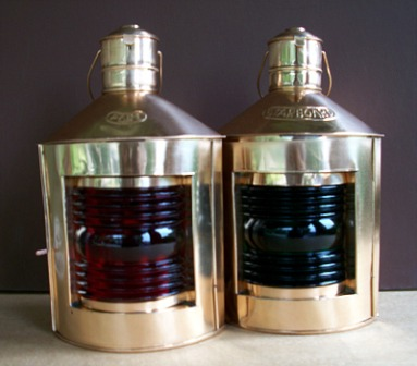 Copper Port & Starboard Lamps - Off